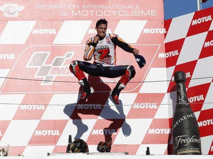 Marc Marquez memecahkan rekor Valentino Rossi. (Foto: Toru Hanai/Reuters)