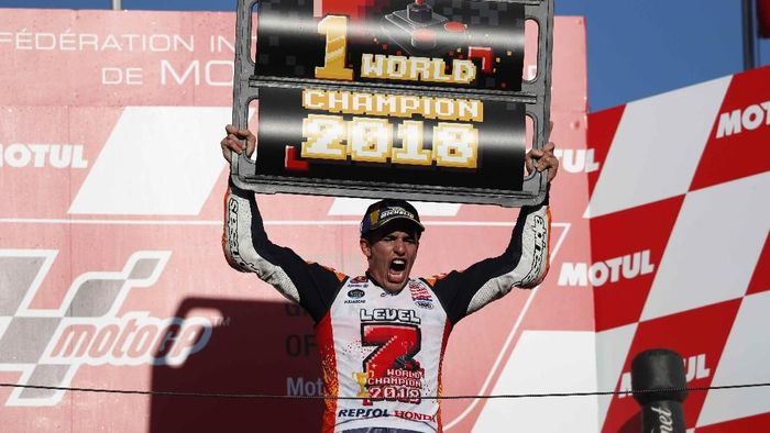 Marc Marquez juara dunia MotoGP 2018. (Foto: Toru Hanai/Reuters)