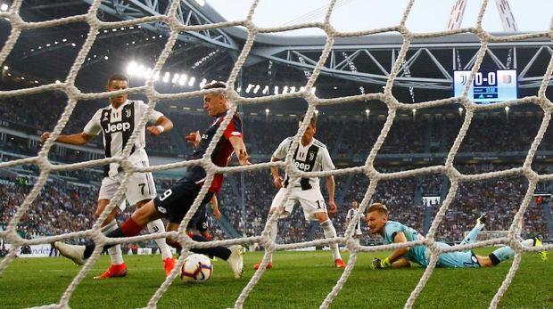Ronaldo sudah mengoleksi lima gol di Liga Italia.