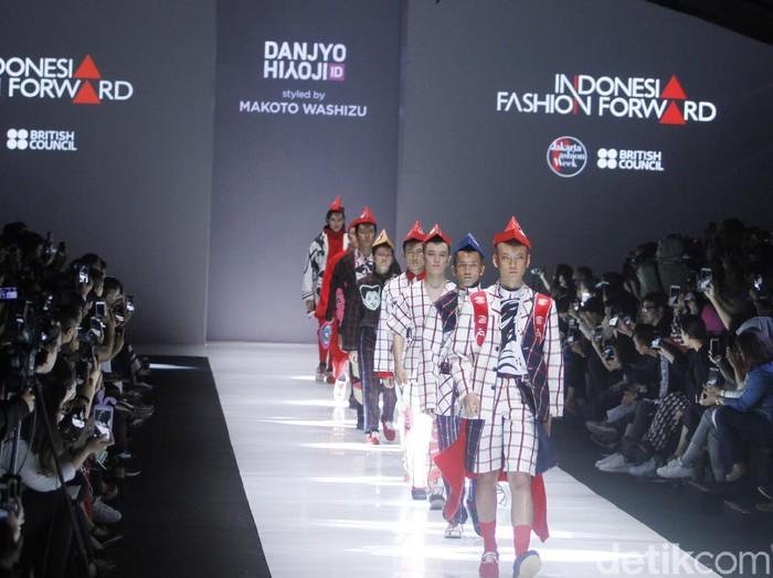 Koleksi Danjyo Hjoji di JFW 2019. Foto: Mohammad Abduh/Wolipop