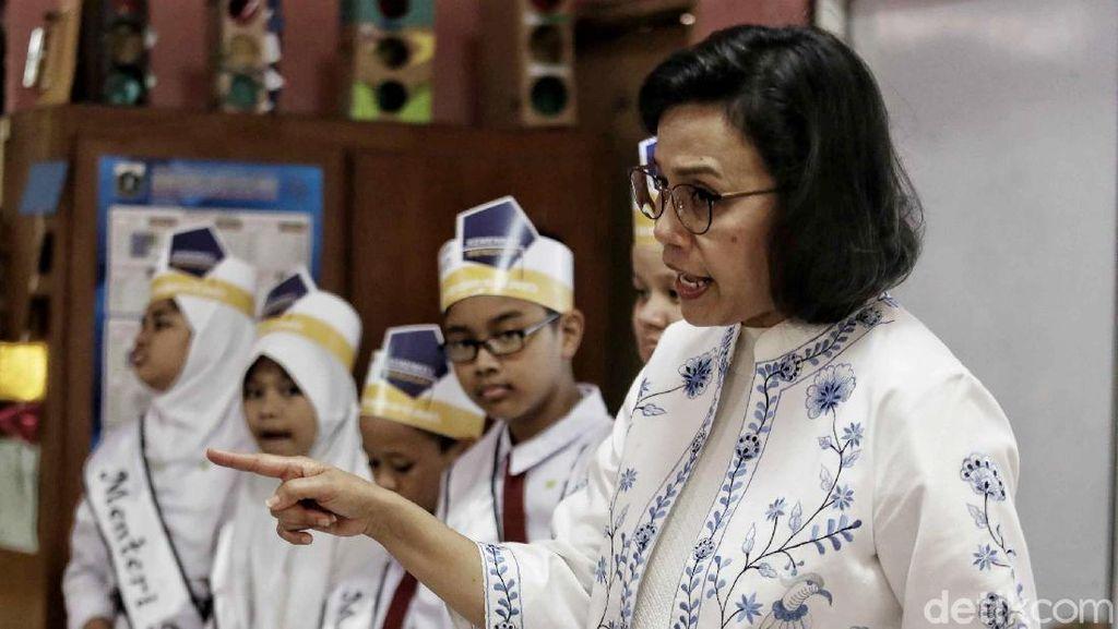 Kesan Sri Mulyani Habis Mengajar Anak SD soal Utang dan APBN