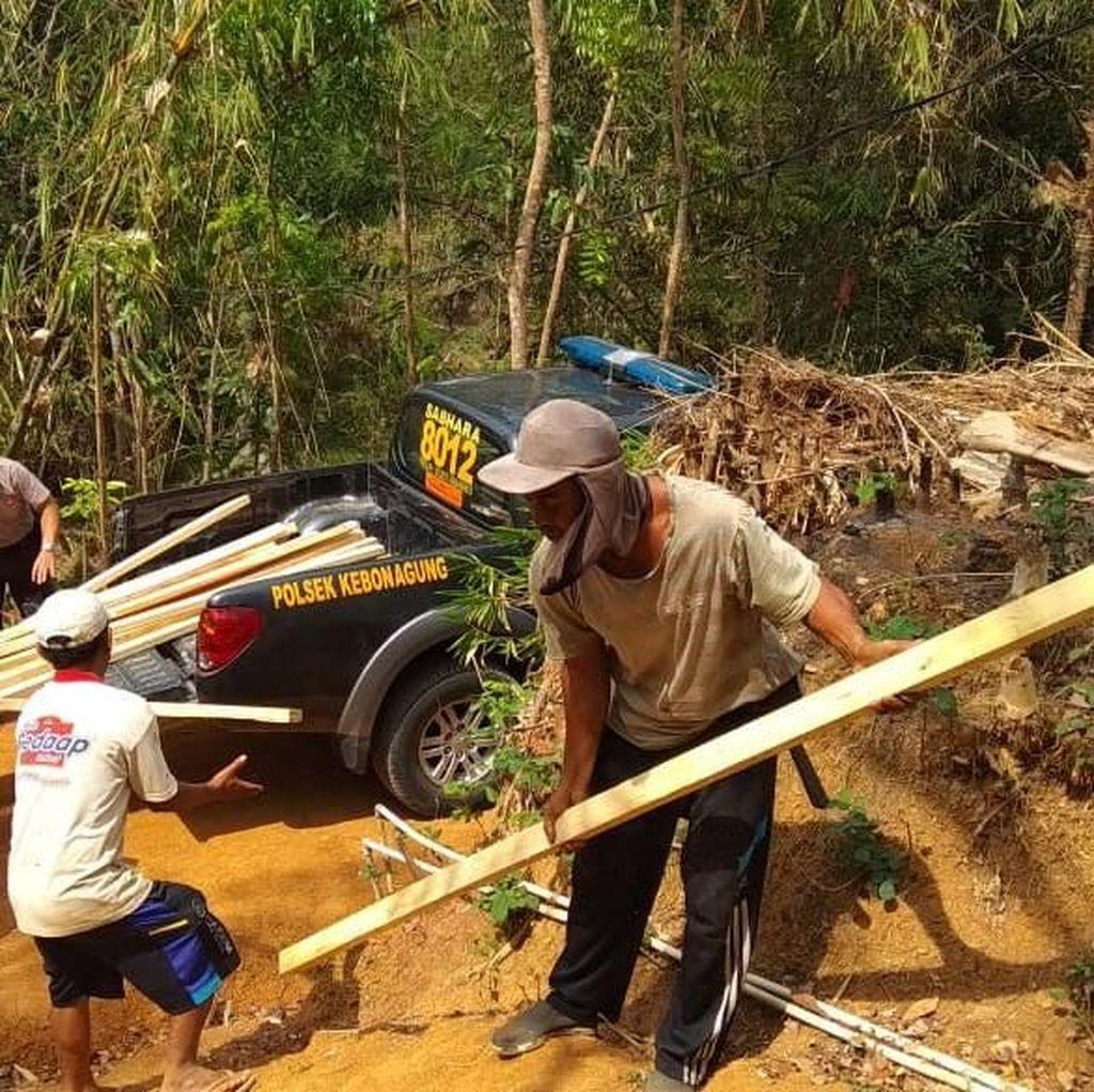 Dibedah Polisi, Eko Kini Tinggali Rumah Layak Huni