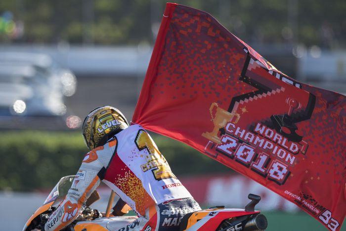 Kemenangan di Le Mans dan Jerez menjadi momen kunci Marc Marquez merebut titel juara dunia 2018. (Foto: Mirco Lazzari gp/Getty Images)