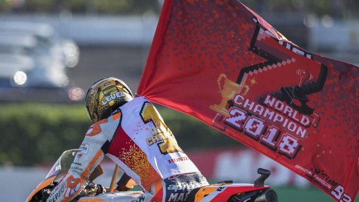 Marc Marquez merebut gelar juara dunia yang ketujuh (Mirco Lazzari gp/Getty Images)
