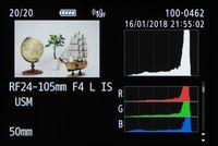Tampilan data teknis foto.
