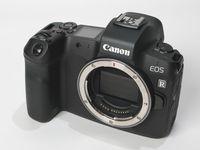 Canon EOS R tampak depan.