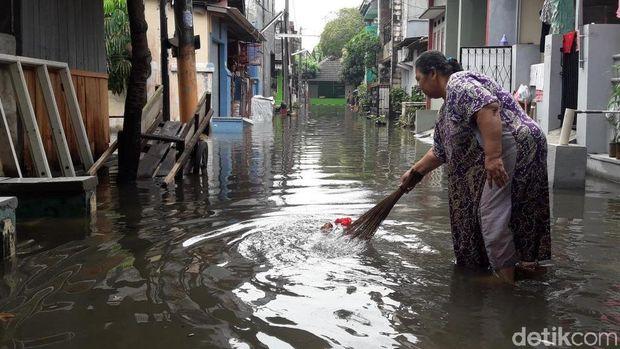 Banjir di Jatimulya, Bekasi, Selasa (23/10/2018)