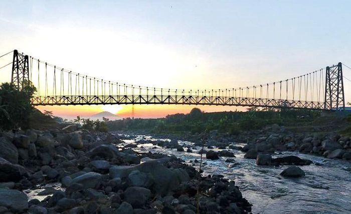 Jembatan Kali Galeh di Kabupaten Temanggung, Jawa Tengah. Istimewa/Dok. Kementerian PUPR.