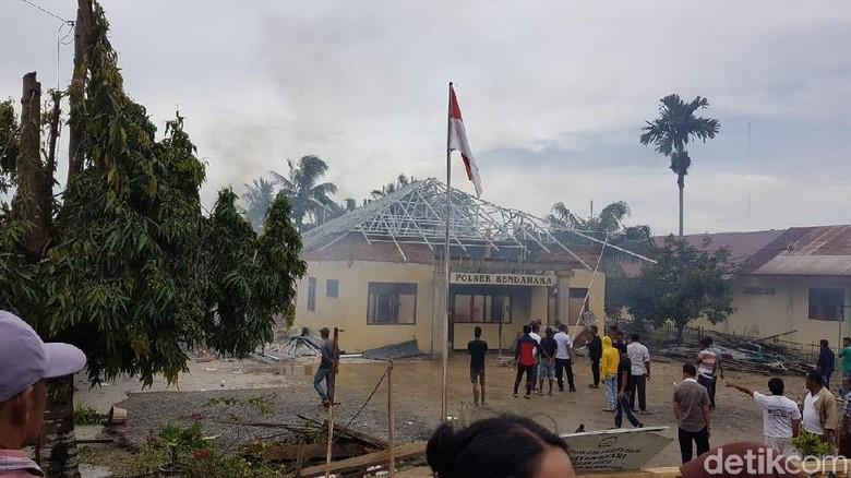 Lokasi Gedung Polsek di Aceh yang Dibakar Massa Sudah Kondusif
