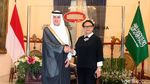 Potret Pertemuan Menlu RI dan Menlu Arab Saudi