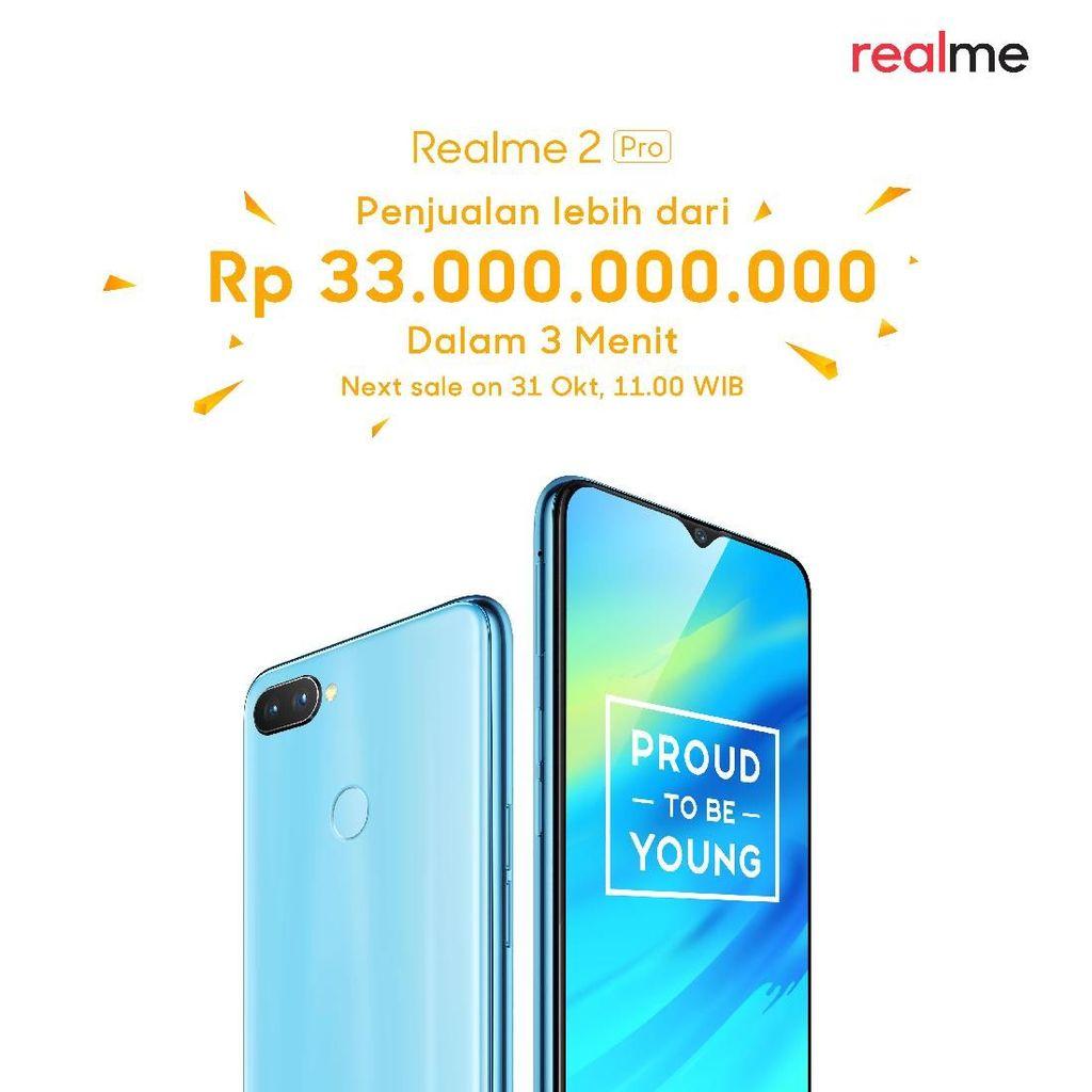 Ponsel Realme Diklaim Terjual Rp 33 Miliar Dalam 3 Menit