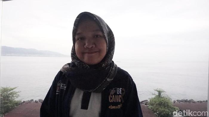 Kanker tidak menghentikan semangatnya untuk menggapai cita-cita (Foto: Aisyah Kamaliah/detikHealth)