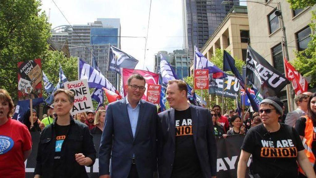 Tuntut Kenaikan Gaji, Demo Buruh Lumpuhkan Kota Melbourne