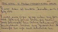 Tulisan tangan Nelson Mandela