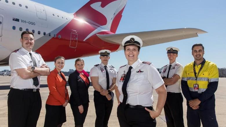 Kampanye peduli kanker payudara dan kanker prostat Qantas