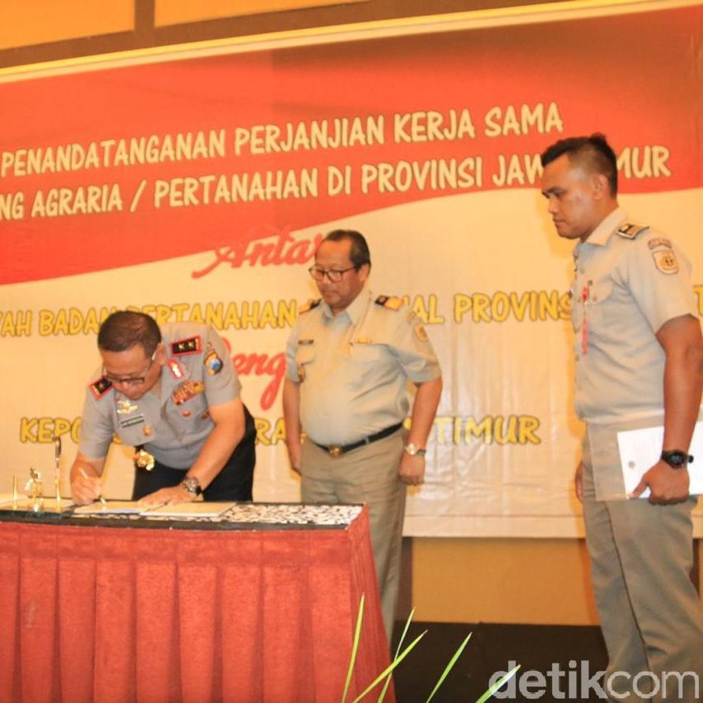 Polda Jatim Gandeng BPN Berantas Mafia Tanah