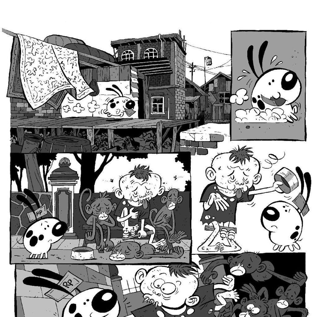 Ilustrator Emte Luncurkan Komik Gugug di UWRF 2018