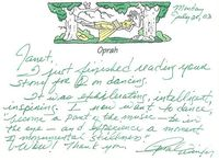 Tulisan tangan Oprah Winfrey