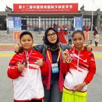 Kakak Beradik Asal Indonesia Ini Raih Medali Kejuaraan Wushu di China
