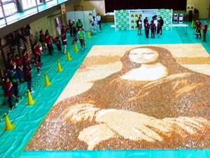 Wouw! Lukisan Mona Lisa 10,7 Meter Ini Dibuat dari Kerupuk Beras