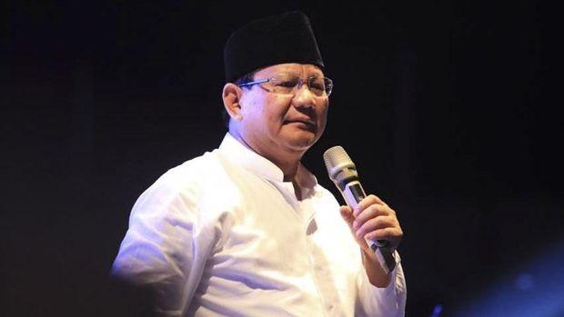 Calon presiden nomor 02 Prabowo Subianto, di Bogor, Jawa Barat, Senin (22/10)