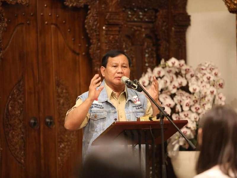 Prabowo Ingin Gaji Penegak Hukum Tinggi agar Tak Mudah Disogok