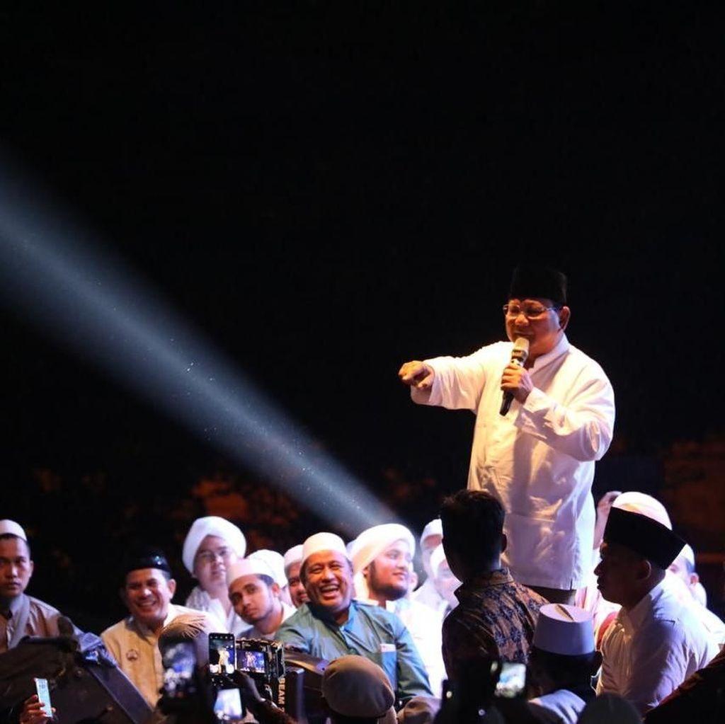 Di Depan Santri-Ulama, Prabowo Janji Tak Perkaya Diri Sendiri
