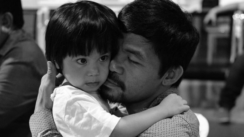 Sosok Ayah Lembut Petinju Manny Pacquaio Bareng Si Bontot Israel