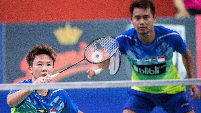 Liliyana Natsir akan berduet dengan Tontowi Ahmad di turnamen terakhirnya, Indonesia Masters 2019 (Foto: Ritzau Scanpix/Claus Fiske via REUTERS)
