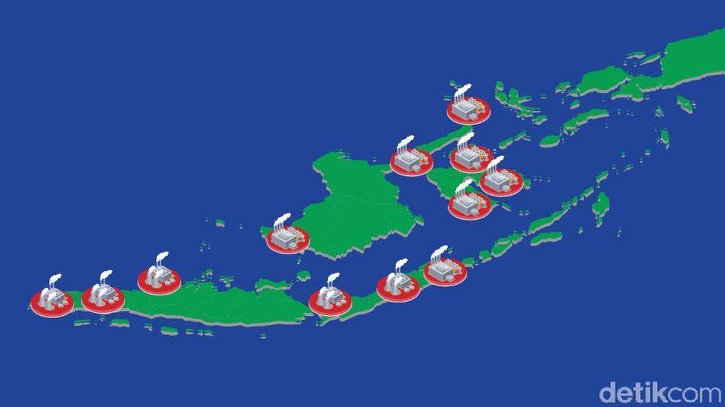 Peta Kawasan Industri yang Dibangun Jokowi