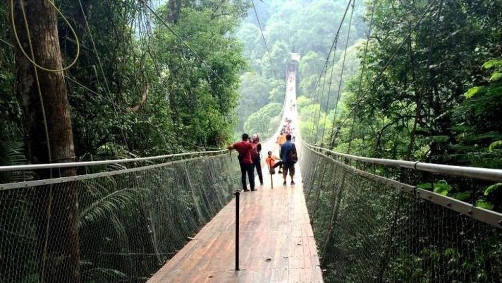 Uji Nyali di Jembatan Gantung Situ Gunung Sukabumi