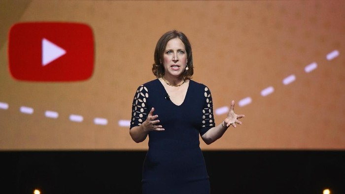 NEW YORK, NY - MAY 03:  YouTube CEO Susan Wojcicki speaks onstage during the YouTube Brandcast 2018 presentation at Radio City Music Hall on May 3, 2018 in New York City.  (Photo by Noam Galai/Getty Images)