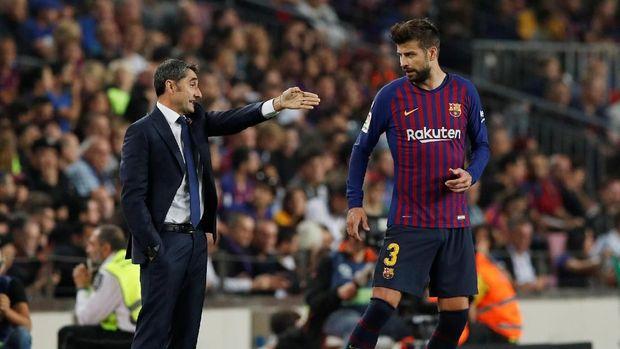 Ernesto Valverde berhasil membawa Barcelona juara La Liga musim lalu.