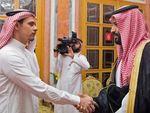 Begini Tatapan Putra Khashoggi Saat Bertemu Putra Mahkota Saudi