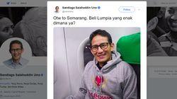 Sedang di Semarang, Sandiaga Uno : Beli Lumpia Enak Dimana Ya?