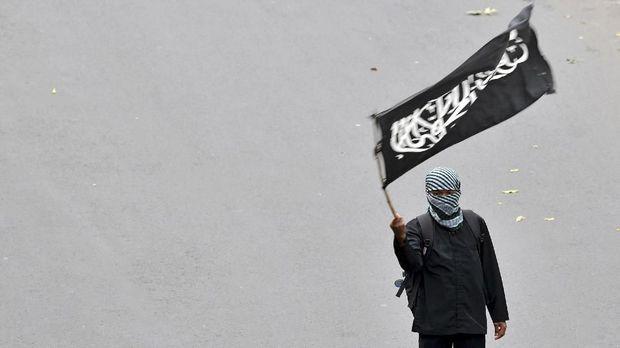 Ilustrasi bendera tauhid.