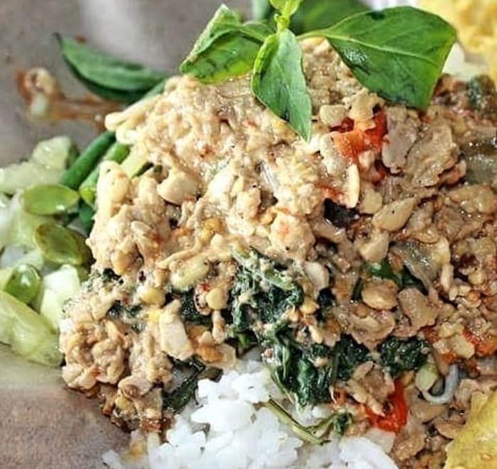 nasi sambal tumpang untuk sarapan