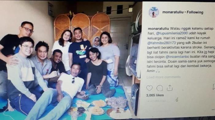 Fahmi Bo terserang stroke (Repro Instagram Mona Ratuliu)