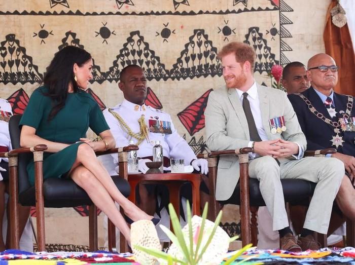 Meghan Markle dan Pangeran Harry saat berkunjung ke Fiji, Oktoberi 2018 lalu. (Foto: Getty Images)