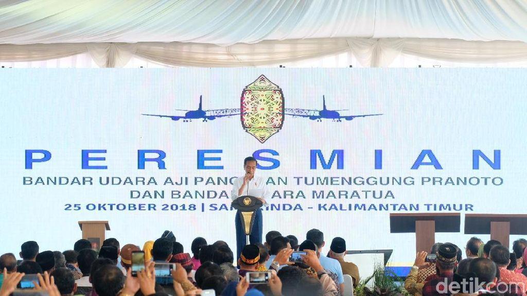 Jokowi Resmikan Bandara APT Pranoto dan Bandara Maratua Kaltim