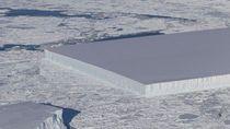 NASA Temukan Gunung Es Persegi Panjang di Kutub Selatan