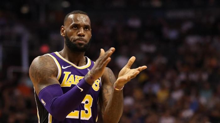 Pemain Los Angeles Lakers, LeBron James. (Foto: Christian Petersen/Getty Images)