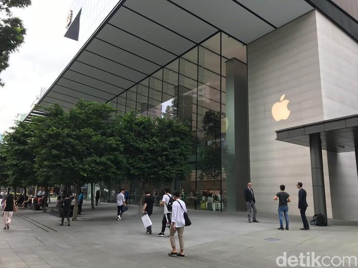 Apple Store di Singapura. Foto: Adi Fida Rahman/detikinet