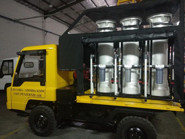 Mobil Desa Penjernih Air yang Dikirim untuk Bantu Korban Gempa Lombok dan Palu. Foto: Dok. Sukiyat