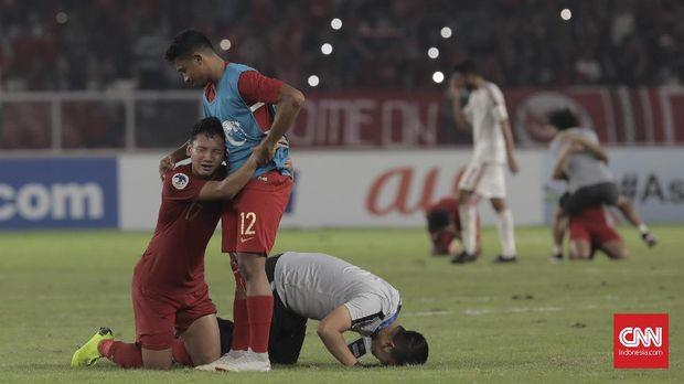 Timnas Indonesia U-19 lolos ke perempat final setelah mengalahkan UEA 1-0 di laga pamungkas Grup A Piala Asia U-19 2018. (