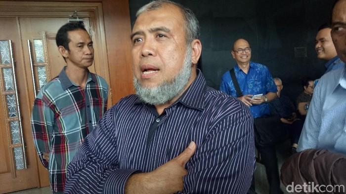 Patrialis Akbar di PN Jakpus, Kamis (25/10/2018) (Faiq Hidayat/detikcom)