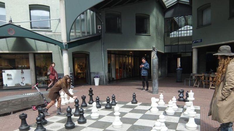 Museum Catur berada di Max Euwe Centrum, Amsterdam, Belanda (Barry Neild/CNN)