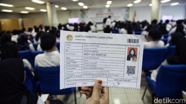Peserta ujian CPNS/Foto: Pradita Utama