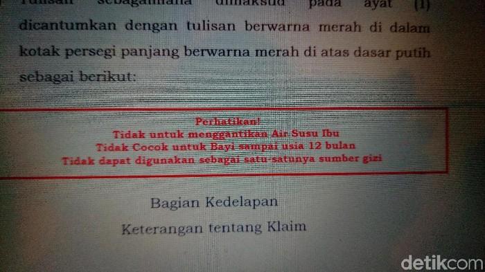 Aturan baru BPOM mengharuskan label peringatan pada susu kental manis (Foto: Rosmha/detikHealth)