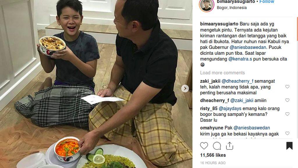 Begini Reaksi Walikota Bogor Saat Dapat Kiriman Nasi Kebuli dari Anies Baswedan